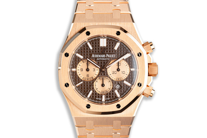 2015 Audemars Piguet Royal Oak 18k Rose Gold Chronograph 26331OR.OO.1220OR.02 with Box and Card photo