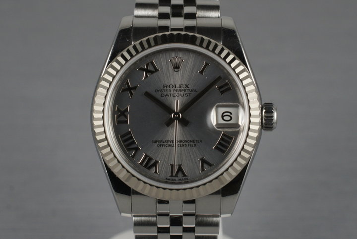 2007 Rolex MidSize Datejust 178274 with Box and Papers photo