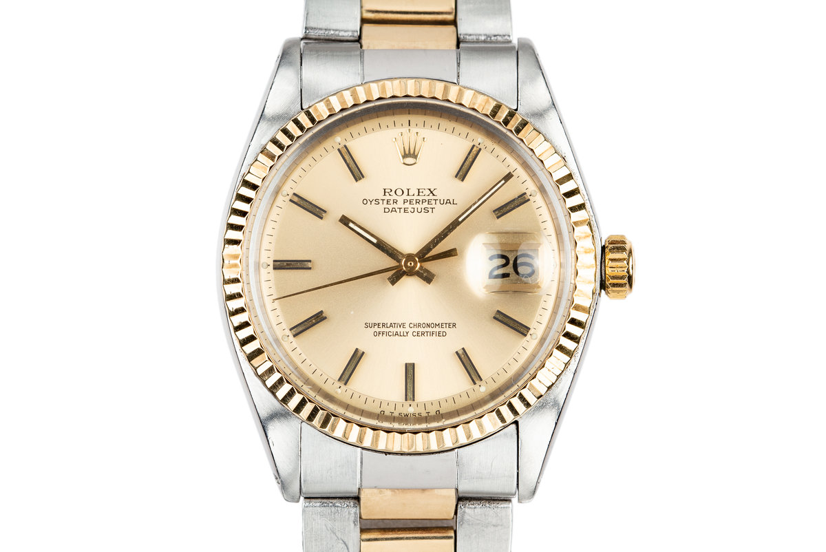 1972 Rolex Two-Tone DateJust 1601 Gold Sigma Dial on Two-Tone Oyster Bracelet photo, #0