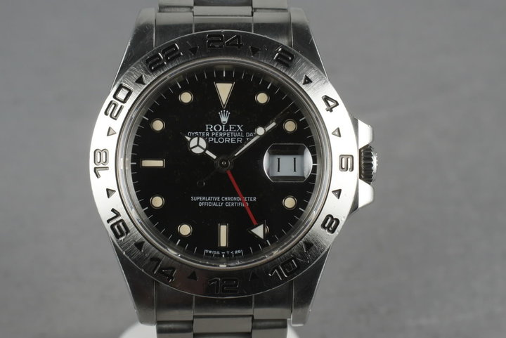 1987 Rolex Explorer II 16550 Black Dial With Papers photo
