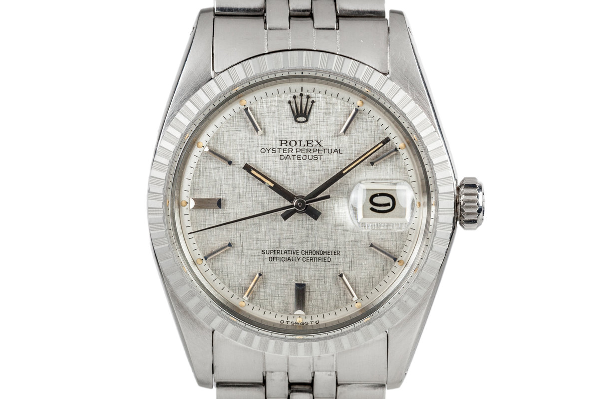 1972 Rolex DateJust 1603 with Linen Sigma Dial photo, #0