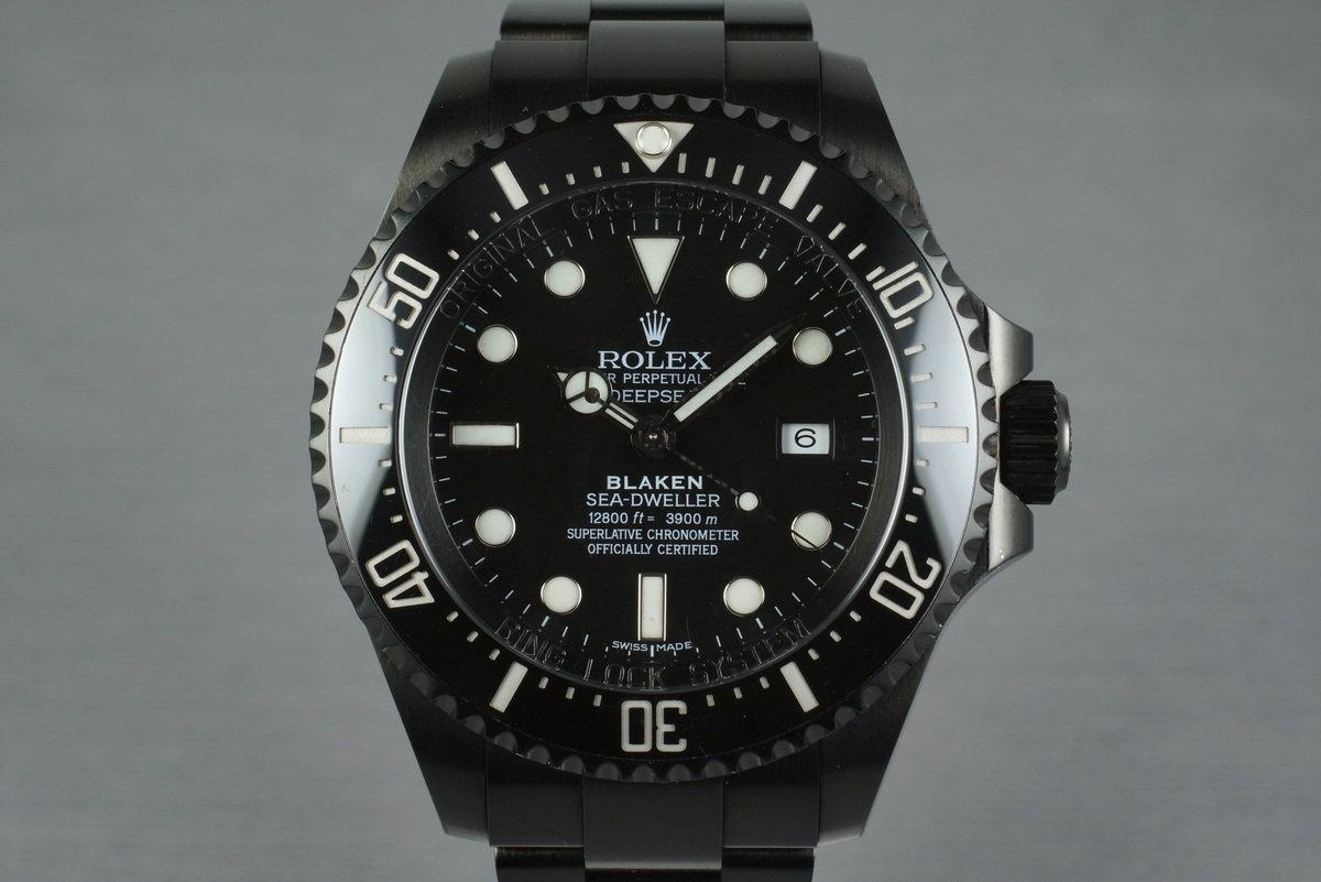 2009 Rolex Blaken Deep Sea Dweller 116660 with Blaken Box and Papers photo, #0
