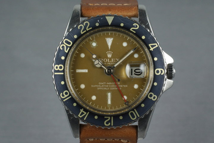 1961 Rolex GMT 1675 PCG Tropical Gilt Chapter Ring Dial photo