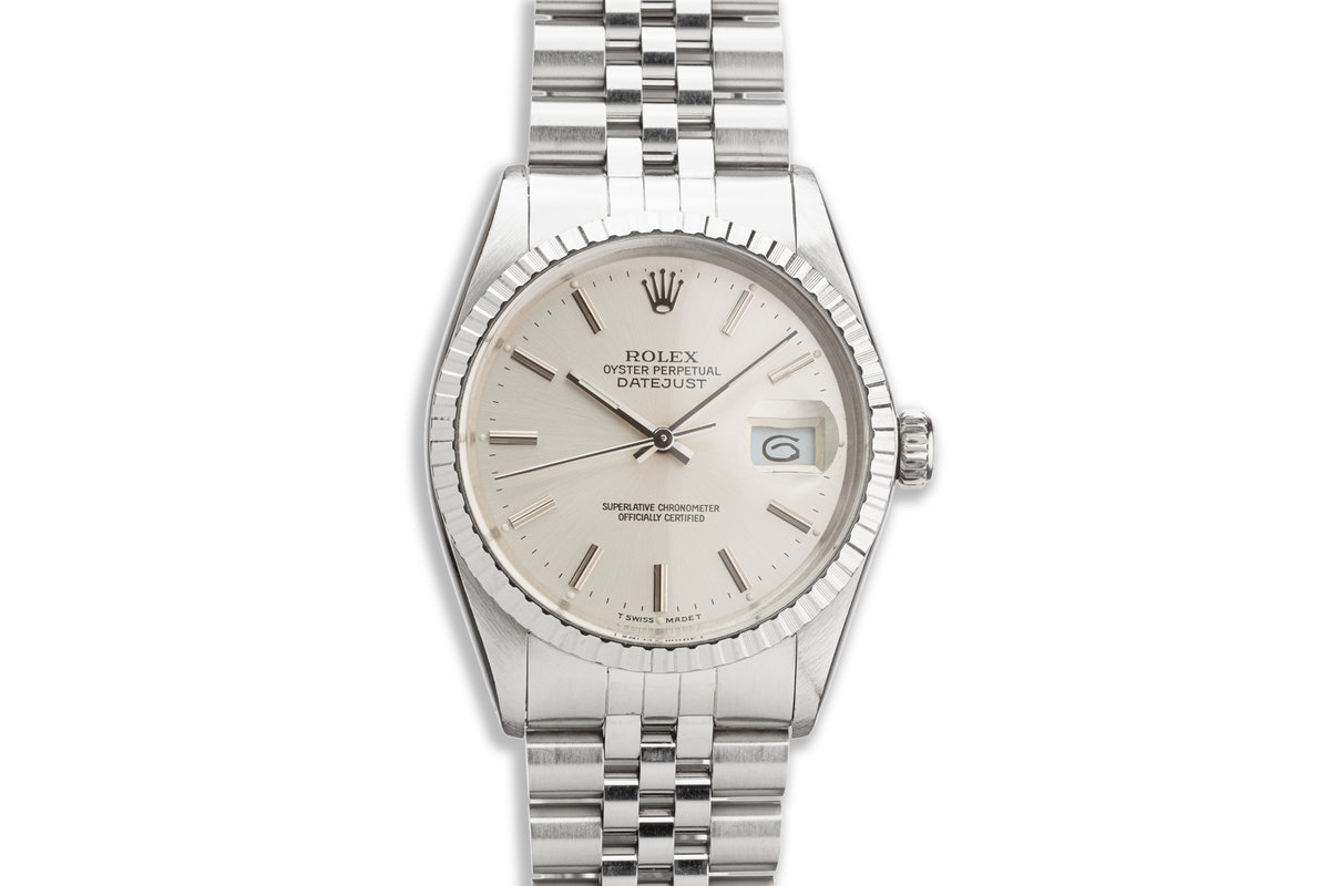1979 Vintage Rolex DateJust 16030 Silver Dial photo, #0
