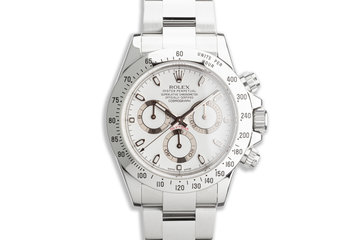 2010 Rolex Daytona 116520 White APH Dial with Box and Card photo