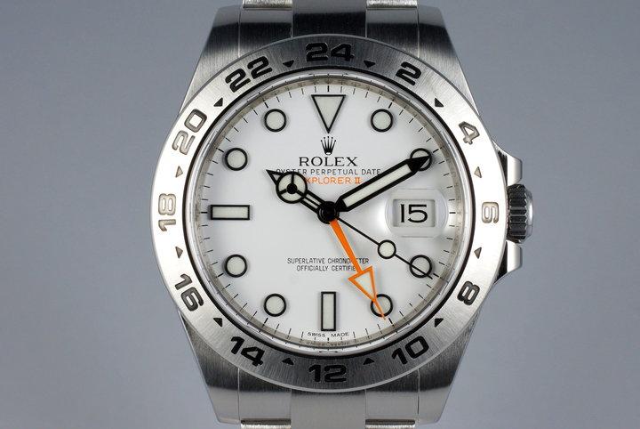 2012 Rolex Explorer II 216570 White Dial photo
