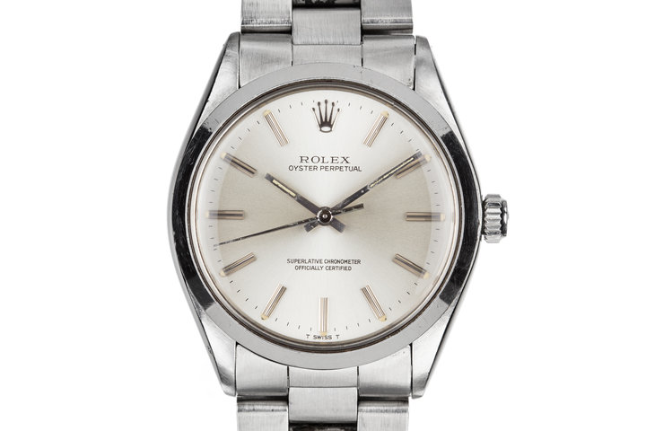 1981 Rolex Oyster Perpetual 1002 SIlver Dial photo