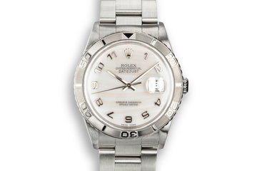 "2002 Rolex DateJust Turn-O-Graph ""Thunderbird"" with Mother of Pearl Arabic Dial photo"