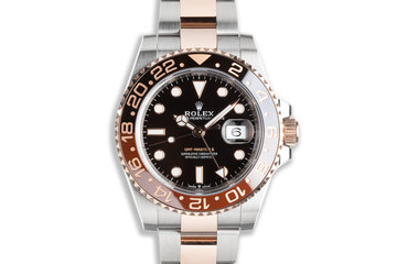 """2021 Rolex Everose GMT-Master II 126711CHNR """"Root Beer"""" with Box & Card photo"""