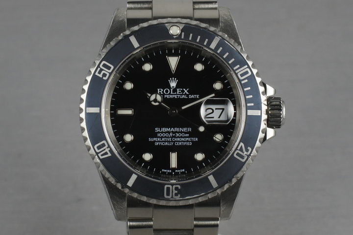 1999 Rolex Submariner 16610 Box and Papers photo