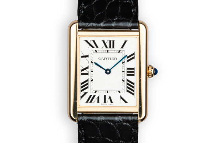 2018 18K YG Cartier Tank Solo W5200004 with Box and Papers photo