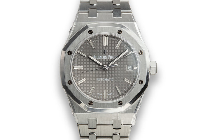 Mint 2019 Audemars Piguet Royal Oak 15450ST.OO.1256ST.01 Grey Dial with Box and Papers photo