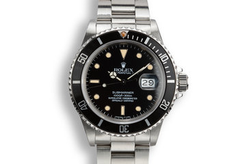 1985 Rolex Submariner 16800 with Box and Service Estimate photo