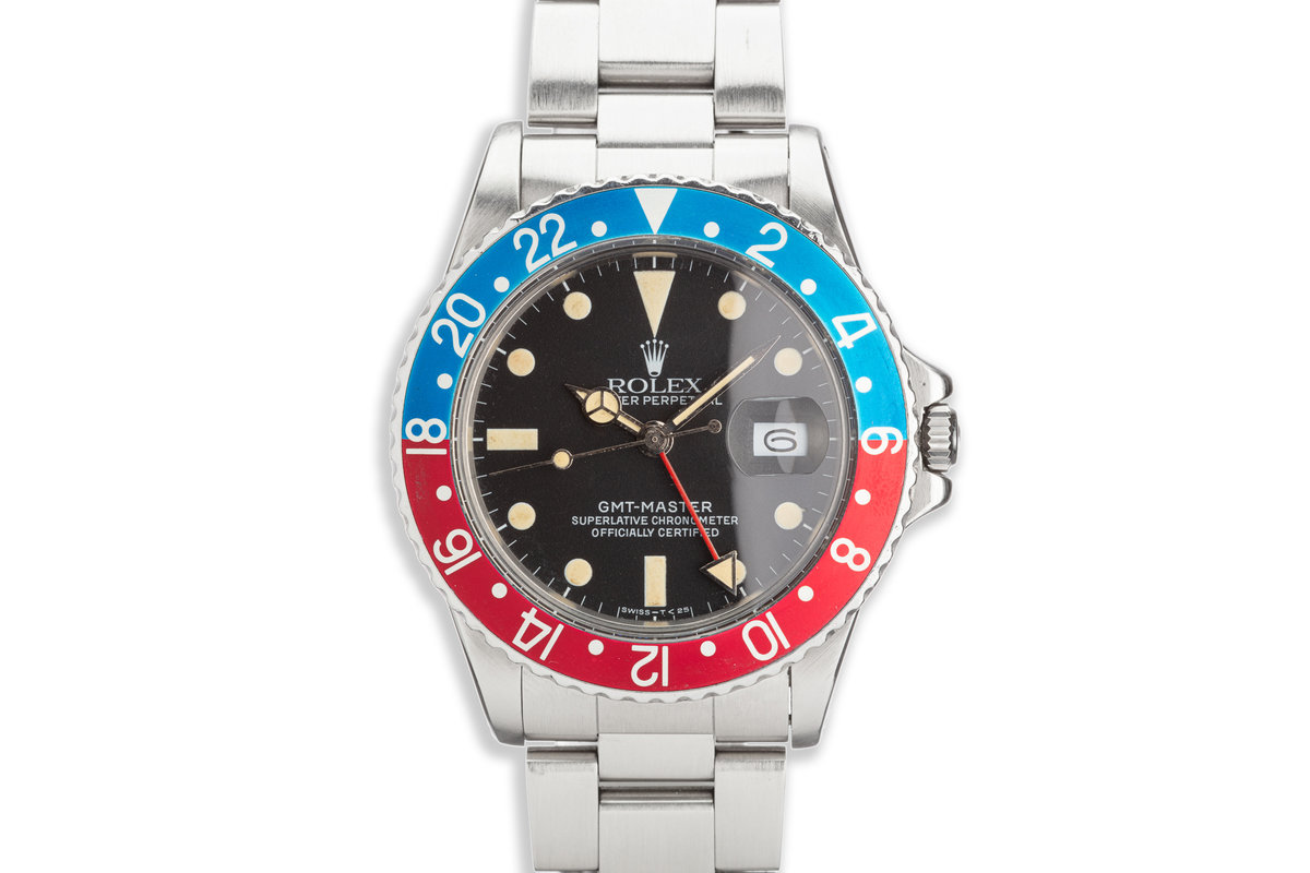 """1984 Vintage Rolex GMT-Master 16750 """"Pepsi"""" Matte Dial with Box and Papers photo, #0"""