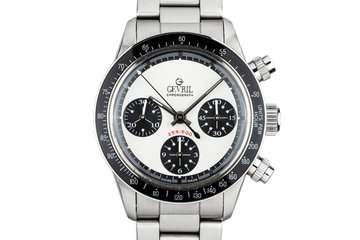 """1999 Gevril Tribeca Chronograph """"Paul Newman"""" White Panada Dial with Box and Papers photo"""