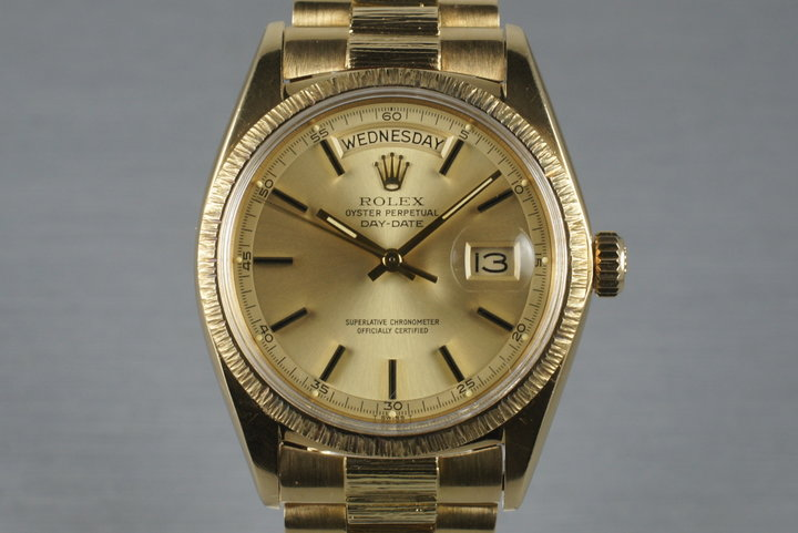 1967 Rolex YG Bark Day-Date 1807 photo