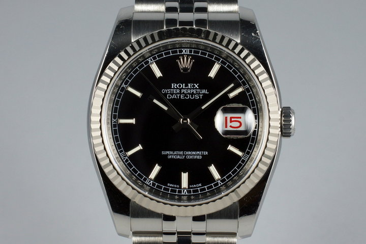 2009 Rolex DateJust 116234 Black Dial photo
