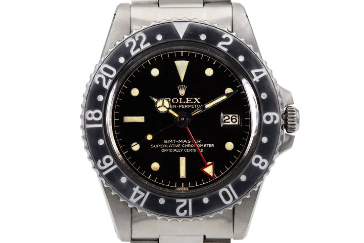 1963 Rolex GMT 1675 PCG Gilt Chapter Ring Dial photo