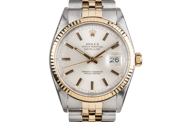 1979 Rolex Two Tone DateJust 16013 Silver Dial photo