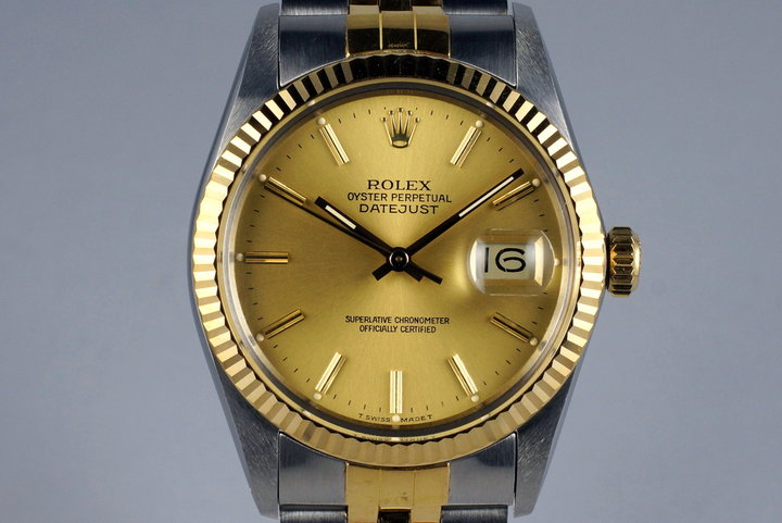 1988 Rolex Two Tone DateJust 16013 Champagne Dial photo