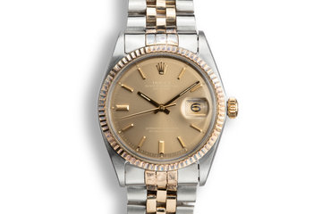 1969 Rolex Two-Tone DateJust1601 with Brown Dial photo