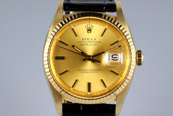 1978 YG Rolex DateJust 1601 with Champagne Dial photo