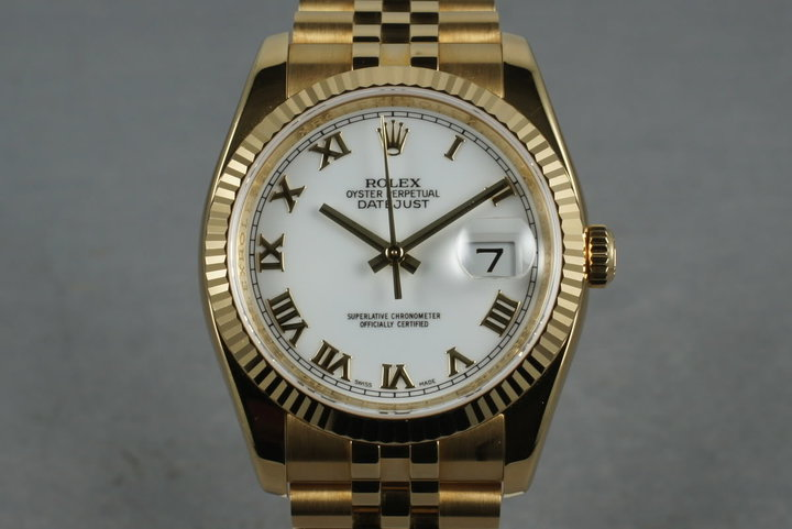 2006 Rolex 18K Datejust 116238 with Box and Papers photo