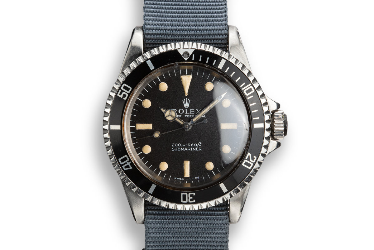 1968 Rolex Submariner 5513 with Relumed Meters First Dial photo, #0