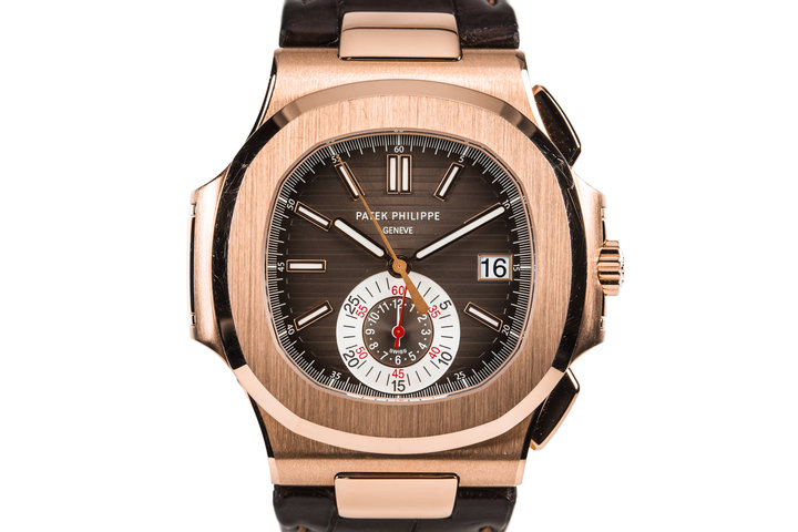 2010 18K Rose Gold Patek Philippe Nautilus 5980R-001 photo