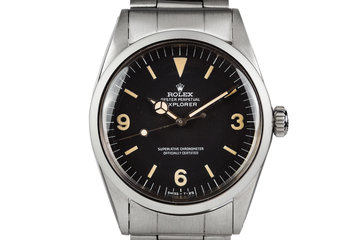 1972 Rolex Explorer I 1016 with Original Papers from BUCHERER photo
