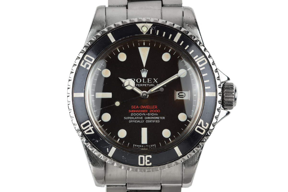 1967 Rolex Double Red Sea-Dweller 1665 with Mark 2 Tropical Dial photo, #0