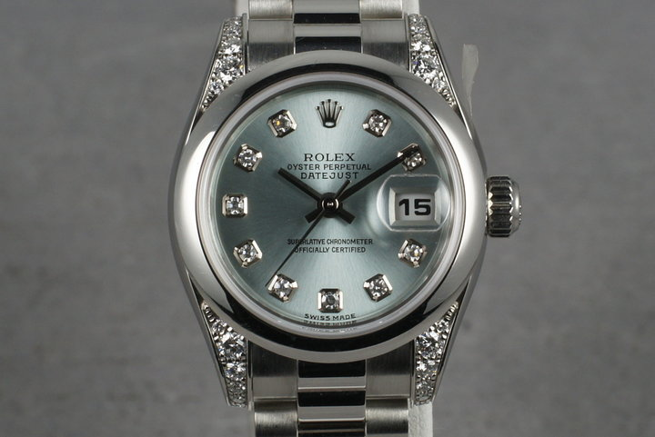 2001 Rolex Ladies Platinum President 179296 with Glacier Diamond Dial photo