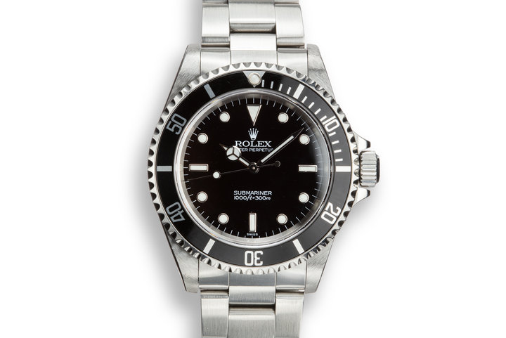 1999 Rolex Submariner 14060 SWISS Only Dial photo