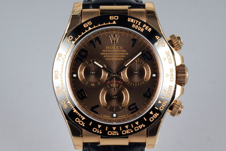 2015 Rolex RG Daytona 116515 Chocolate Arabic Dial with Box and Papers MINT photo