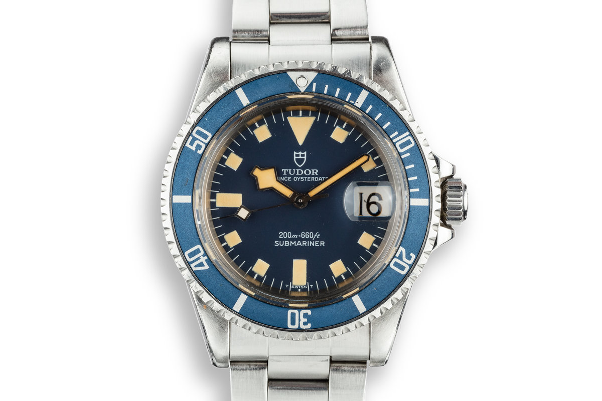 1979 Tudor Snowflake Submariner 94110 Blue Dial with Box and Papers photo, #0