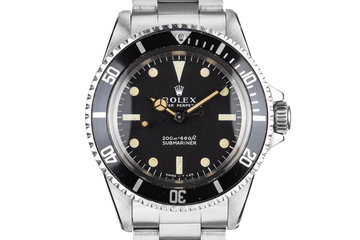 1967 Rolex Submariner 5513 with Meters First Dial with Kissing 40 Insert photo