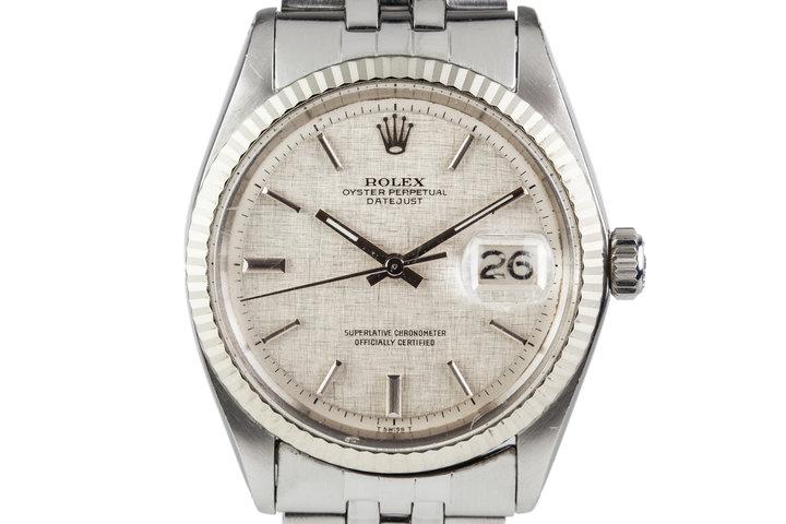 1972 Rolex Datejust 1601 No-Lume Linen Dial photo