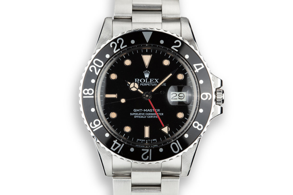 1985 Rolex GMT-Master 16750 Black Bezel photo, #0