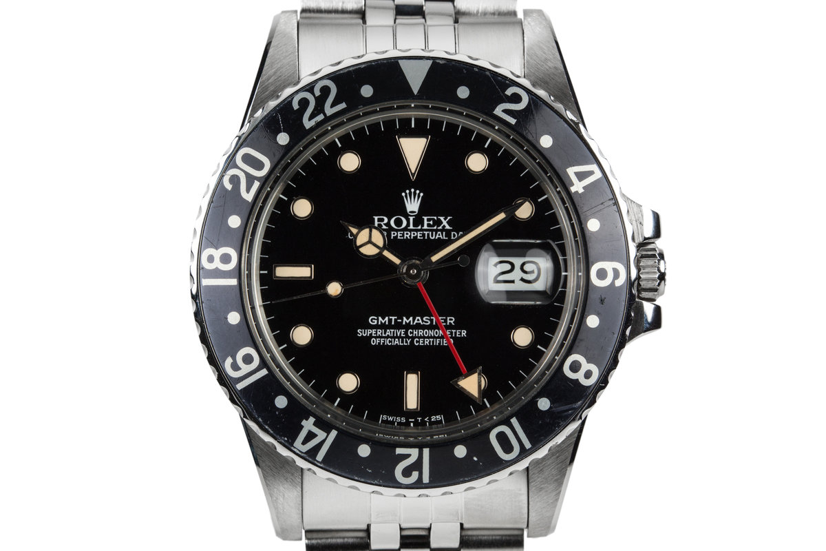 1984 Rolex GMT-Master 16750 with Black Bezel Insert photo, #0