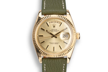 1973 Rolex 18K YG Day-Date 1803 Champagne Dial with Service Papers photo