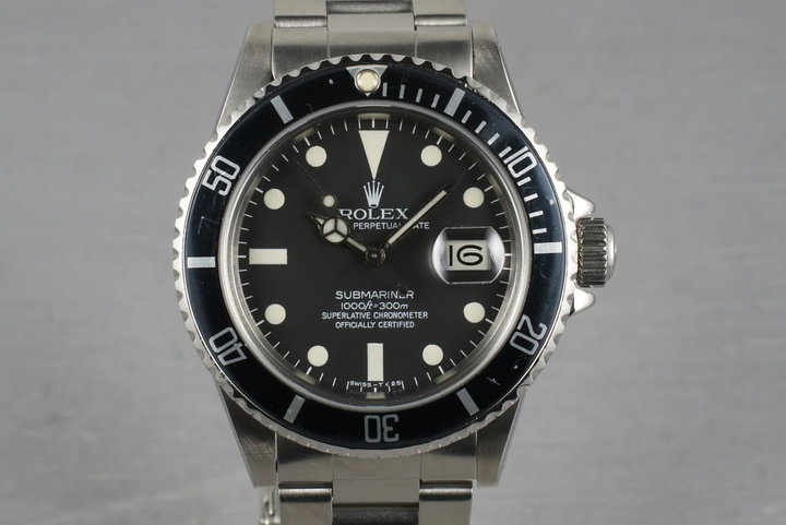 Rolex Submariner 16800 Matte Dial photo