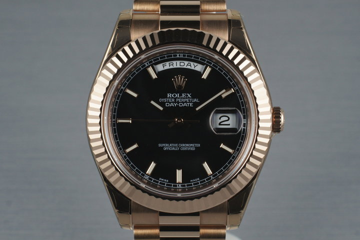 2009 Rolex Rose Gold Day Date II 218235 with Box and Papers photo
