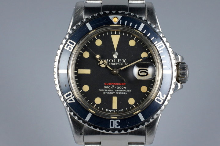 1972 Rolex Red Submariner 1680 Mark V Dial photo