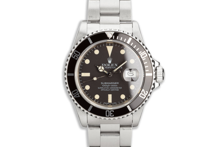 1983 Vintage Rolex Submariner 16800 Matte Dial photo
