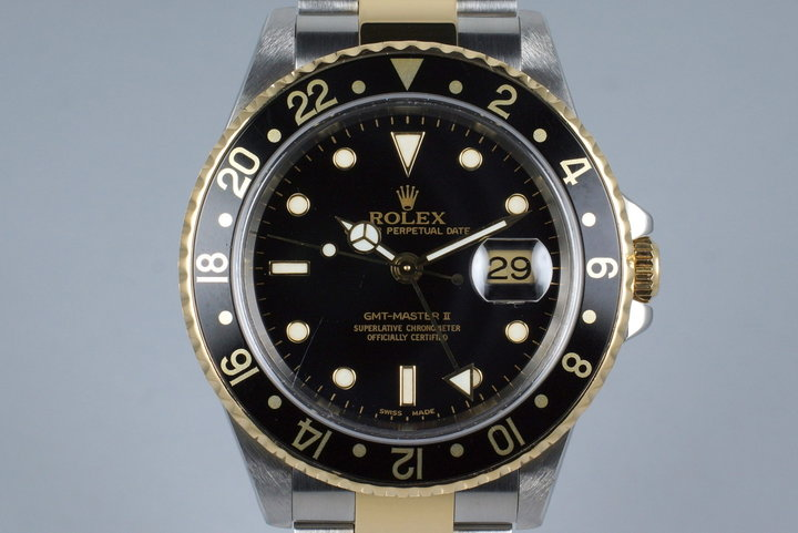 2000 Rolex Two Tone GMT II 16713 Box and Papers photo