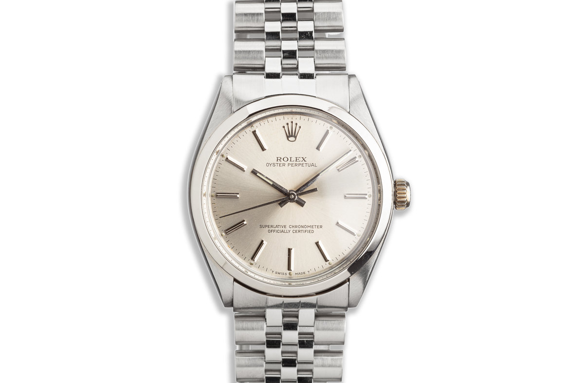 1987 Vintage Rolex Oyster Perpetual Silver Dial photo, #0
