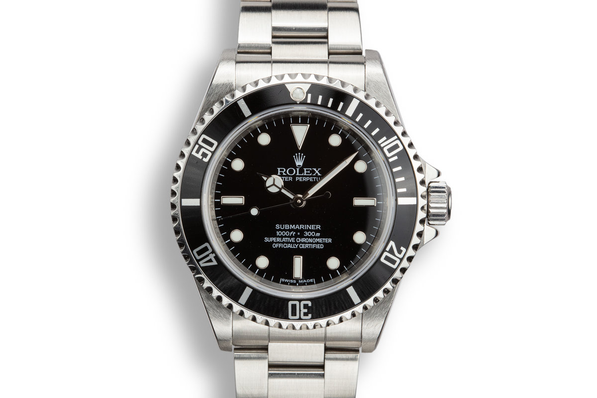 2006 Rolex Four Line Submariner 14060M with Box and Papers photo, #0
