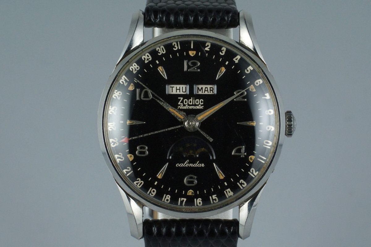 1958 Zodiac Triple Date Moonphase Automatic with Box and Papers photo, #0