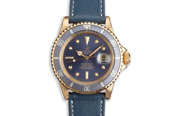 1978 Vintage Rolex 18K YG Submariner 1680 with Tropical Nipple Dial photo