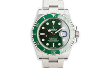 "2017 Rolex Green Submariner 116610LV ""Hulk"" with Box and Card photo"